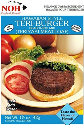NOH Hawaiian Style Teri-Burger, 1.5-Ounce Packet, (Pack of 12) by NOH Foods of Hawaii
