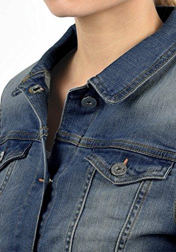 Mezza Blend Jeanie Donna nbsp; 19037 Di Jeans Stagione Collo Giacche Con She Alto Blue Da nbsp; Medium Elasticizzato nbsp; Giacca Denim 0r5vq0wR