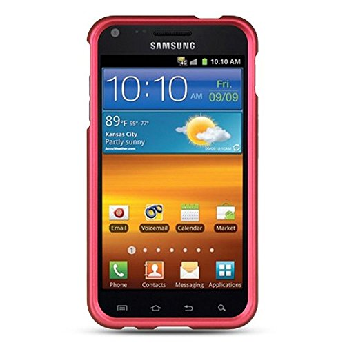 Samsung Epic 4G Touch (Sprint Galaxy S II) SPH-D710 Rubberized Hard Case Cover - Hot Pink from Luxmo
