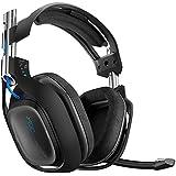 Astro Gaming A50 - Auriculares para videojuegos para PlayStation 4, PlayStation 3, PC, MAC, color negro