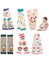 Baby and Toddler Leg Warmers 3.15'' x 11.8'' Packs of 6