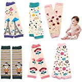 Sept.Filles Baby and Toddler Leg Warmers 3.15'' x 11.8'' Packs of 6