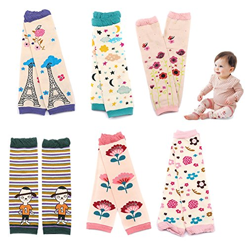 Sept.Filles Baby and Toddler Leg Warmers 3.15'' x 11.8'' Packs of 6(E)