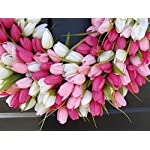 Elegant-Holidays-Handmade-PinkWhite-Silk-Tulip-Wreath-Decorative-Home-Dcor-for-IndoorOutdoor-Welcome-Guests-in-Spring-Summer-with-Front-Door-Wreaths-Great-Easter-Holiday-Accent-16-26-inches