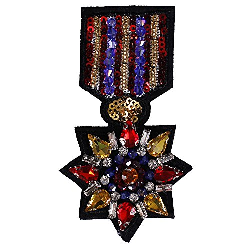 1pieces Colourful Anise Star Beads Sequins Badge Rhinestones Crystal Motifs Patches DIY Applique Craft Accessories TH747