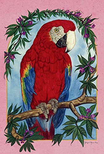 - Toland Home Garden Parrot Perch 28 x 40 Inch Decorative Tropical Exotic Jungle Bird Branch House Flag