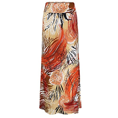 Maxi Skirt Aisa Tone Womens Two Multicolored Damask Printed Multi57 OaxZTwq