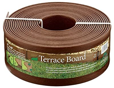 Master Mark Plastics 95340 Terrace Board Landscape Edging Coil, 5-inch x 40-Foot, Brown