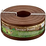 Master Mark Plastics 95340 Terrace Board Landscape Edging Coil, 5 Inch X  40 Foot, Brown