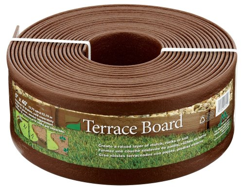 Master Mark Plastics 95340 Terrace Board Landscape Edging Coil, 5-inch x 40-Foot, Brown Garden Edging Borders