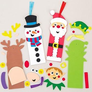 Lesezeichen Bastelsets Weihnachten Fur Kinder Zum Basteln Verzieren