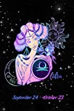 2020 Zodiac Weekly Planner - Libra September 24 - October 23: Stylized Fashionable Lady on Black Starry Background - 14 Month Horoscope Planner