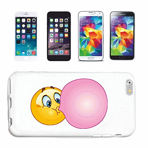 "cas de téléphone iPhone 7+ Plus ""SMILEY AVEC GUM BIG BALLON ""SMILEYS SMILIES ANDROID IPHONE EMOTICONS IOS grin VISAGE EMOTICON APP"" Hard Case Cover Téléphone Covers Smart Cover pour Apple iPhone en bl"