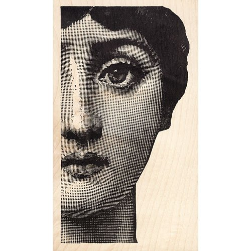 Woman's Face Fornasetti Rubber Stamp Sissy