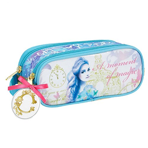 Beautiful Disney Cinderella,Double Zip,Pencil Case,Make-up Bag,Official%100,Stock Clearance -