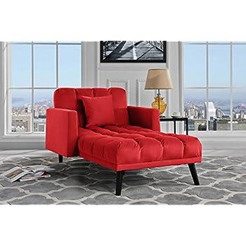 modern velvet fabric recliner sleeper chaise lounge   futon sleeper single seater with nailhead trim   amazon    modern linen fabric recliner sleeper chaise lounge