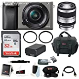 Sony Alpha A6000 Camera w/ 16-50mm & 18-200mm Lens Accessory Bundle (Graphite)