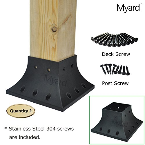 Myard 4x4 (actual 3.5x3.5 ) Inches Post Base Cover Skirt ...