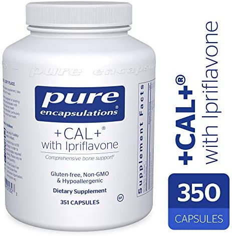 Pure Encapsulations – Cal with Ipriflavon – Mineral, Vitamin, and Herb Supplement to Promote Skeletal Strength* – 351 Capsules