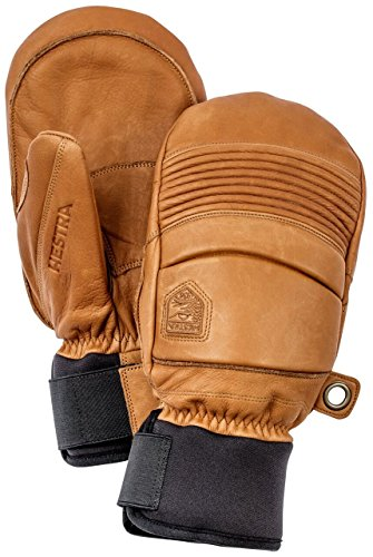Hestra Leather Fall Line Short Ski Mitten,Brown,10 by Hestra