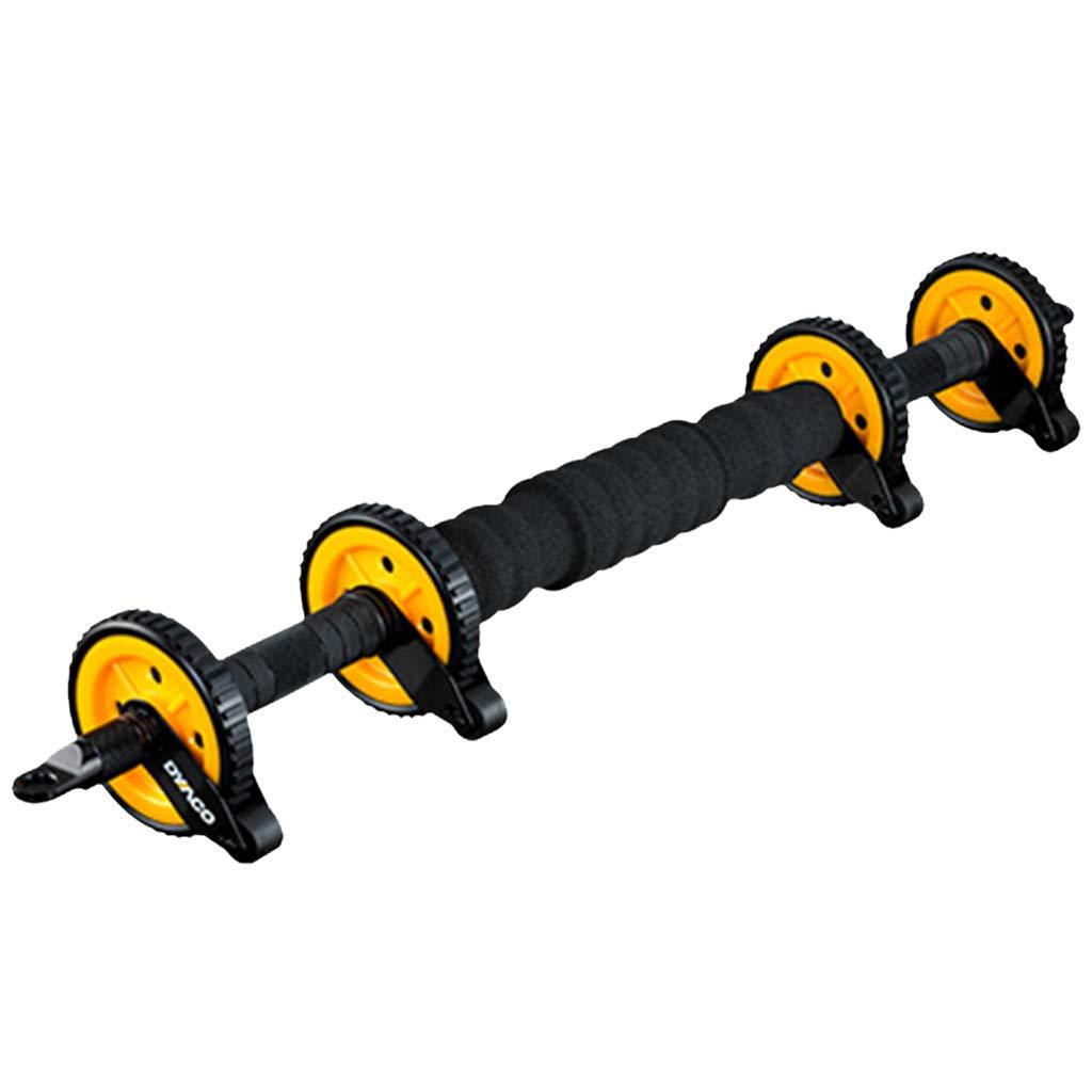 Bauchtrainer Home Bauchmuskel Fitnessgeräte Bauchmuskel Bauchmuskelgerät Bauchmuskelgerät Bewegungsrolle (Farbe : Gelb, Größe : 85  10.5cm)