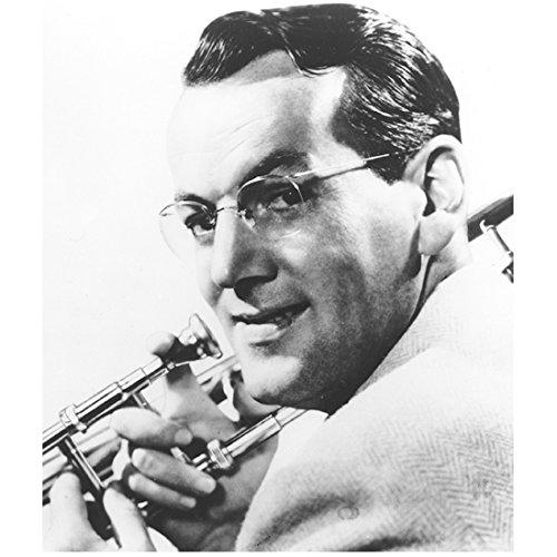 Glenn Miller Turned to Side Holding His Trombone and Smiling 8 x 10 Inch (Glenn Miller Trombone)