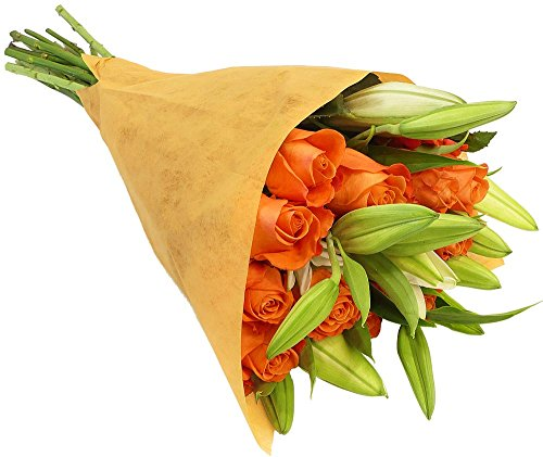 Benchmark-Bouquets-Orange-Roses-and-White-Oriental-Lilies-With-Vase