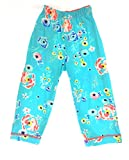 HUE Floral Crop Pajama Bottoms 100% Cotton Tropic Blue Small