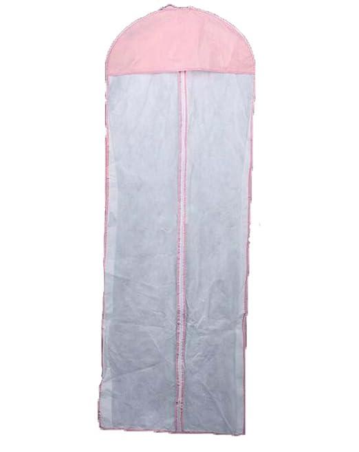 Hangerworld - Funda para vestidos de novia (rosa y blanco fundas ...