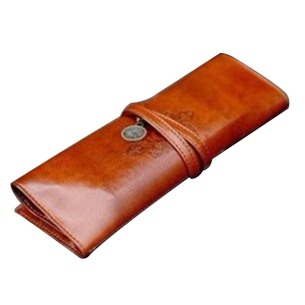 daorier Vintage Leder Bleistift Fall wasserdicht Fall Halter für Füllhalter Multifunktional Pen Tasche Tasche für Geldbörse