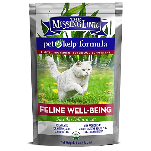 The Missing Link Pet Kelp Formula - Feline Well-Being - Limited Ingredient Superfood Supplement for Cats 6 oz. by The Missing Link
