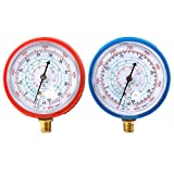 Bang4buck Refrigerant Low and High Pressure Gauge for Air Conditioner R410A R134A R22 PSI KPA- 2 Pack (Refrigerant Gauges)