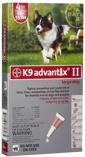 K9 Advantix II (21 to 55 lbs- 4 Pack)