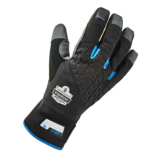 Ergodyne ProFlex 817WP Reinforced Thermal Waterproof Insulated Work Gloves, Touchscreen Capable, Black, Large by Ergodyne