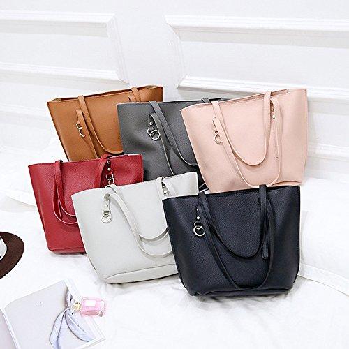 Bag 4pcs Classic handbag Red Woman Bag Shoulder Sets wallet Bag crossbody PqOUwU