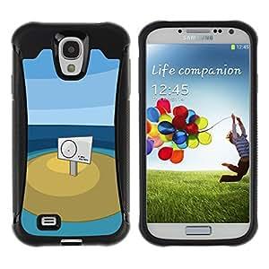 KEIZZ Cases / Samsung Galaxy S4 I9500 / You Are Here / Robusto Prueba de choques Caso Billetera cubierta Shell Armor Funda Case Cover Slim Armor