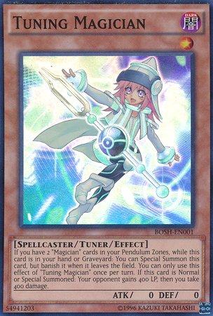 Yu-Gi-Oh! - Tuning Magician (BOSH-EN001) - Breakers of Shadow - Unlimited Edition - Super Rare