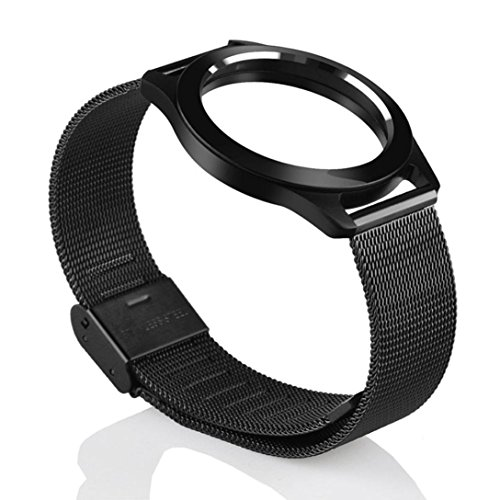 Steel Wristband Bracelet Strap Fitness Monitor Black - 1