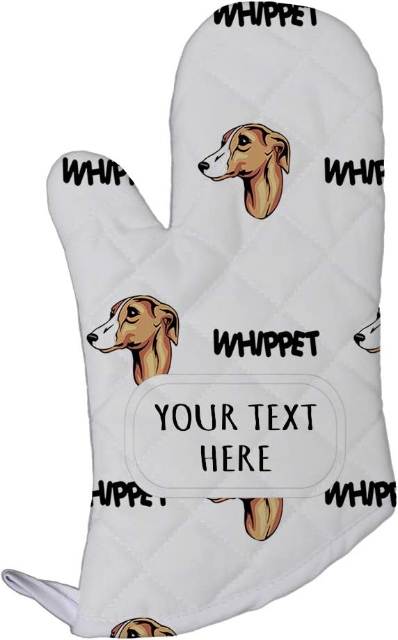 Style In Print Polyester Oven Mitt Custom Whippet Dog Breed Pattern Adults Kitchen Mittens