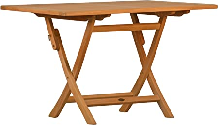: Premium Klapptisch Brighton Teak Holz Garten 120