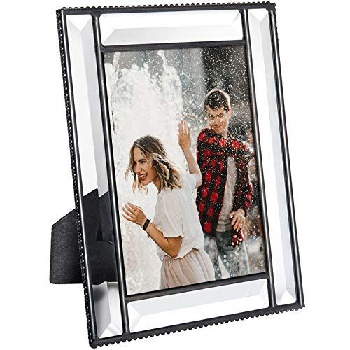 J Devlin Pic 354-57HV Beveled Glass Picture Frame Wedding Frame Keepsake Tabletop Photo (5x7) ()