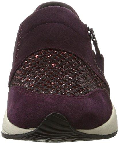 Geox Damen D Omaya Un Violett Sneaker (prugna / Dk Bordeaux)