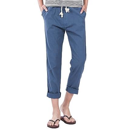Pantalones Hombre Casuales Deportivos Pantalones de Lino Pantalones Hose sólidos Jogger tamaño M-3XL Comfy Pant: Amazon.es: Ropa y accesorios