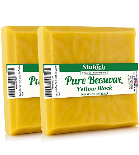 Pure Yellow BEESWAX Blocks 100% Natural, Craft Grade