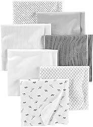 Simple Joys por Carter's Baby Paquete de 7 mantas de algodón para recep