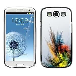 X-ray Impreso colorido protector duro espalda Funda piel de Shell para SAMSUNG Galaxy S3 III / i9300 / i747 - Crayon Drawing Colors Bird