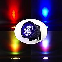 SWEON 4 PCS RGB 86 LEDs Stage Light DMX512 PAR Lights Laser Projector Lighting for Wedding Birthday Party Events Celebration Live Concert Show