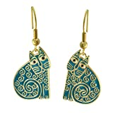 Laurel Burch Classics Collection Jubilee Cat Drop Earrings