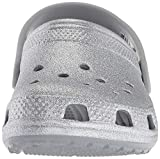 Crocs Crocband Classic Glitter Clog K, silver, 5
