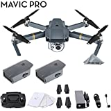 DJI Mavic Pro 4k Quadcopter Drone 2 Battery Bundle